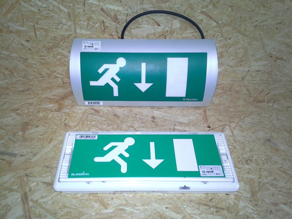 Noodverlichting | Bloem Gebruikte Bouwmaterialen