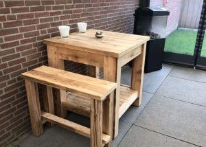 Hoge houten tafel | Bloem Gebruikte Bouwmaterialen